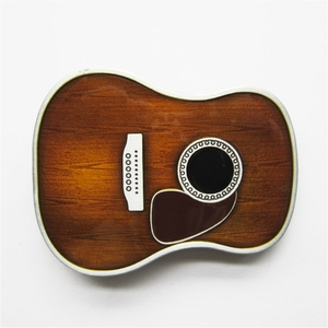 New Vintage Enamel Guitar Head Music Belt Buckle Gurtelschnalle Boucle de ceinture BUCKLE-MU071