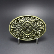 New Original Vintage Bronze Plated Celtic Legend Phoenix Oval Western Belt Buckle
