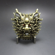 New Jeansfriend Bronze Plated Original Rhinestone Imitate Plastic Peal Dragon Belt Buckle