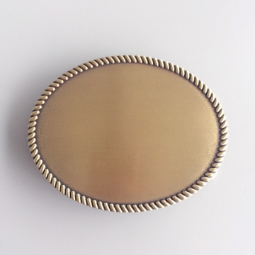 Classic New Original Antique Bronze Plated Western Rope Oval Blank Belt Buckle