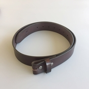 New Classic Dark Coffee Color Genuine Leather Belt Solid Real Leather Belt Screws On Belt Gurtel