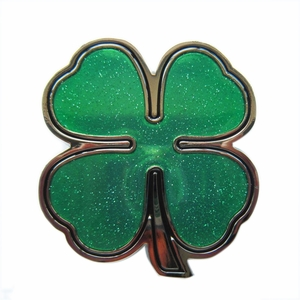 New Lucky Irish Leaf Enamel Belt Buckle Gurtelschnalle Boucle de ceinture