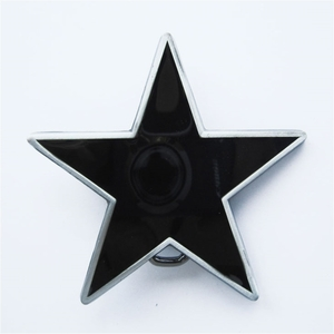 New Black Enamel Star Belt Buckle Gurtelschnalle Boucle de ceinture