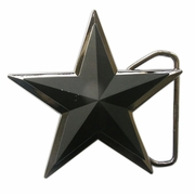 Double Layer Matter Black 3D Star Belt Buckle Gurtelschnalle Boucle de ceinture