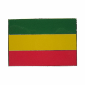 Vintage Rectangle Rasta Flag Pan-Africa Flag Belt Buckle Gurtelschnalle Boucle de ceinture