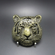 New Vintage Bronze Plated King of Animal Tiger Wildlife Western Belt Buckle Gurtelschnalle Boucle de ceinture