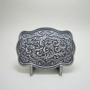New Classic Vintage Silver Plated Original Southwest Western Flower Pattern Belt Buckle