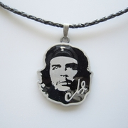 Che Guevara Metal Charm Pendant Leather Necklace