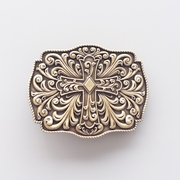 New Classic Vintage Bronze Plated Western Flowers Cross Knot Belt Buckle Gurtelschnalle Boucle de ceinture