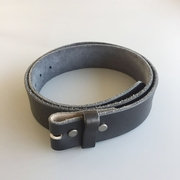 New JEAN'S FRIEND Black Western Cowboy Vintage Screws On Leather Belt