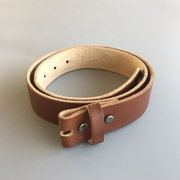 New JEAN'S FRIEND Light Coffee Color Western Cowboy Vintage Screws On Leather Belt Gurtel