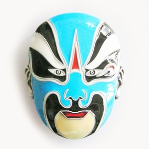 New Original Peking Opera Face Enamel Vintage Belt Buckle Gurtelschnalle Boucle de ceinture