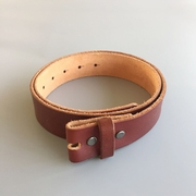 New JEAN'S FRIEND Red Brown Color Western Cowboy Vintage Screws On Leather Belt Gurtel