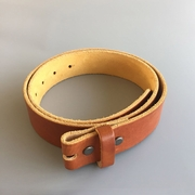 New JEAN'S FRIEND Yellow Brown Color Western Cowboy Vintage Screws On Leather Belt Gurtel