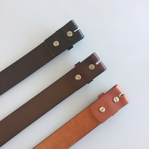 New Classic Brown Genuine Leather Belt Solid Real Leather Belt Screws On Belt Gurtel