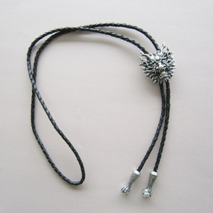 New Jeansfriend Original Silver Plated Vintage Real White Pearl Dragon Bolo Tie Leather Necklace
