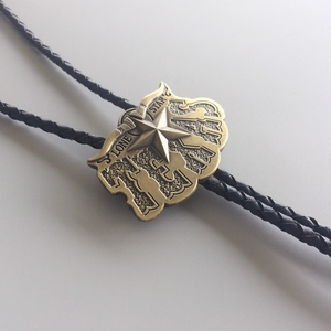 New Vintage Bronze Plated Long Horn Bull Star Western Wedding Bolo Tie Leather Necklace