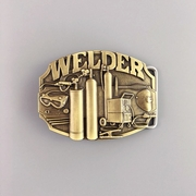 New Vintage Bronze Plated Welder Trades Tradesman Belt Buckle Gurtelschnalle Boucle de ceinture