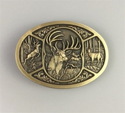 New Vintage Bronze Plated Western Deer Hunt Hunting Belt Buckle Gurtelschnalle Boucle de ceinture