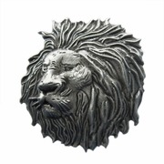 New Vintage Distressed Lion Head Animal Wildlife Western Belt Buckle