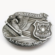 New Vintage Police Officer American Hero Belt Buckle Gurtelschnalle Boucle de ceinture
