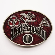 New Vintage Red Led Zeppelin Oval Belt Buckle Gurtelschnalle Boucle de ceinture