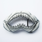 New Vintage Sculpting Shark Teeth Belt Buckle Gurtelschnalle Boucle de ceinture