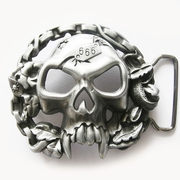 New Vintage Skull With Motorcycle Chains Biker Rider Belt Buckle Gurtelschnalle Boucle de ceinture