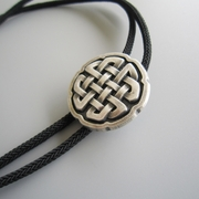 2016 New Vintage Original Cross Celtic Knot Bolo Tie Necklace With Sky Systems Jewelry Fiber Braided Rope