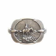Original New Western Cowboy Eagles Vintage Silver Plated Belt Buckle Gurtelschnalle Boucle de ceinture