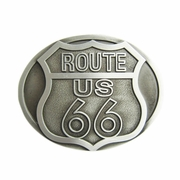 New Vintage Route US 66 Motorcycle Biker Rider Oval Belt Buckle