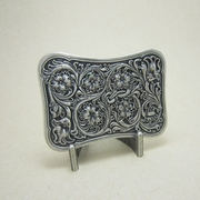 New Original Vintage Silver Plated Western Flower Southwest Rectangle Belt Buckle Gurtelschnalle Boucle de ceinture