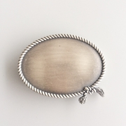 New Jeansfriend Original Silver Plated Western Ropes Oval Blank Belt Buckle Custom Belt Buckle