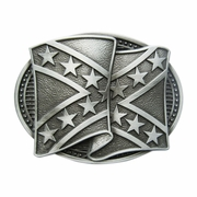 Original Cross Star Banner Flag Belt Buckle Gurtelschnalle Boucle de ceinture BUCKLE-FG005AS