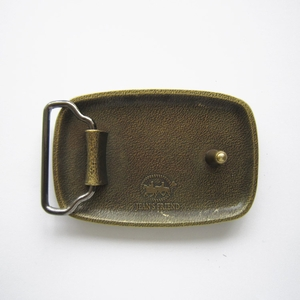 New Original Antique Bronze Plated Hammer Forged Rectangle Belt Buckle