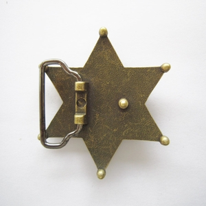 New Original Vintage Bronze Plated Western Sheriff Star Belt Buckle BUCKLE-GU044AB
