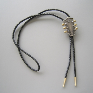 New Jeansfriend Original Guitar Music Western Bolo Tie Wedding Leather Necklace