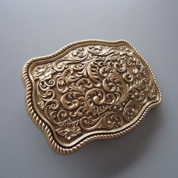 New Classic Vintage Gold Plated Southwest Western Flower Carved Belt Buckle