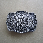 New Vintage Classic Original Western Cowboy Flower Pattern Belt Buckle