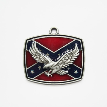 New Vintage Western Eagle Flag Metal Charm Pendant