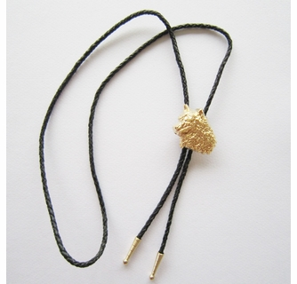 OVAL DESIGN GOLD PLATED BOLO TIE #41