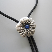 New Jeansfriend Rhinestones Original Dream Flower Wedding Necklace Bolo Tie