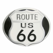 New Vintage Enamel Route US 66 Motorcycle Biker Rider Belt Buckle