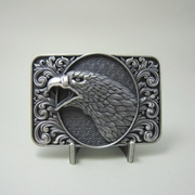 New Vintage Silver Plated Bald Eagle Head Ornate Western Belt Buckle Gurtelschnalle Boucle de ceinture