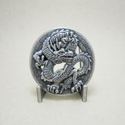 New Vintage Silver Plated Classic Rhinestone Dragon Belt Buckle