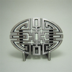 New Original Cut Out Vintage Silver Plated Culture Lucky Knot Oval Belt Buckle BUCKLE-CH005SL
