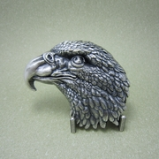 New Original Vintage Silver Plated Eagle Head Western Belt Buckle