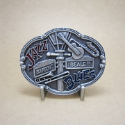 New Vintage Silver Plated Jazz Blues County Music Belt Buckle Gurtelschnalle Boucle de ceinture BUCKLE-MU070SL