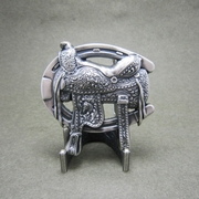 New Original Vintage Silver Plated Western Saddle Horse Shoe Belt Buckle Gurtelschnalle Boucle de ceinture BUCKLE-WT140SL