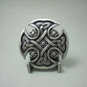 New Jeansfriend Vintage Silver Plated Celtic Knot Cross Belt Buckle